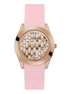 Women's Pink Silicone Strap Watch 39mm