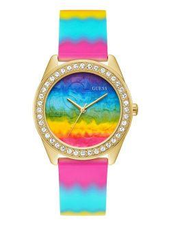 Women's Tie Dye Silicone Strap Watch 40mm
