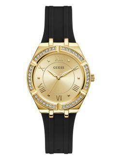 Women's Black Silicone Strap Watch 36mm