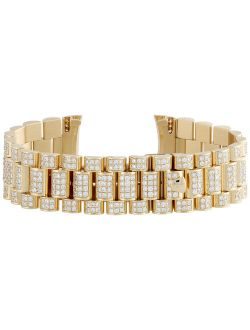 18k Yellow Gold Diamond Watch Band For Rolex Day-date President 8.90 Ct.