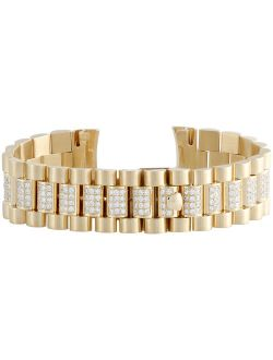 18k Yellow Gold Diamond Watch Band For Rolex Day-date President 4.52 Ct.