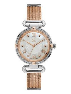 Women's Swiss Two-Tone Stainless Steel Mesh Bracelet Watch 36mm