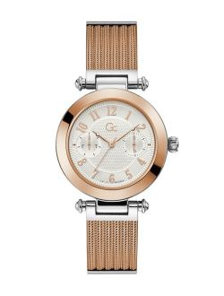 Gc Women's Prime Chic Mesh Rose-Gold Stainless Steel Mesh Bracelet Watch 36.5mm