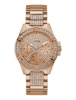 Unisex Rose Gold-Tone Stainless Steel Bracelet Watch 40mm