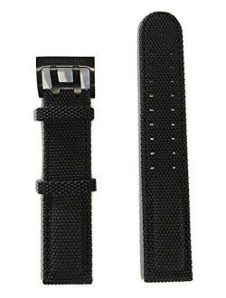 C Hamilton Khaki Field 20mm Black Canvas Strap For H71626735 Or H70695735