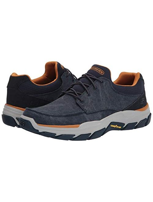 Skechers USA Men's Respected-Loleto Moc Toe Bungee Lace Shoes