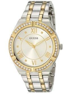 Women's Analog Quartz Watch With Stainless Steel Strap, Silver, 18 (model: Gw0033l4)