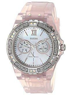 Women's Analog Quartz Watch With Silicone Strap, Pink, 18 (model: Gw0041l2)