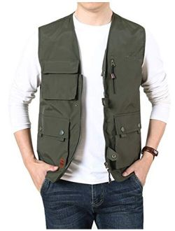 Gihuo Men's Casual Lightweight Utility Work Fishing Safari Travel Vest