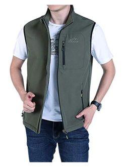 Gihuo Men's Outdoor Fishing Travel Softshell Fleece Vest