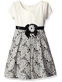 Girls' Short Sleeve Floral Knit Dress