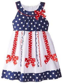 Little Girls' Knit Jaquard Print Cardigan Dress