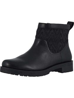 Women's Mystic Maple Ankle Boot - Ladies Boots With Waterproof Leather Upper And Woolblend Textile With Concealed Orthotic Arch Support
