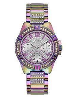 Women's Analog Watch With Stainless Steel Strap, Purple, 22 (model: Gw0044l1)