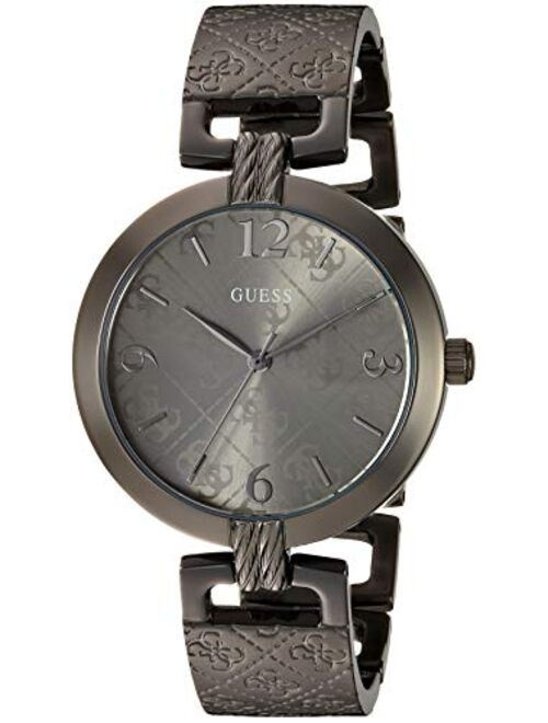 GUESS Women's Analog Watch with Stainless Steel Strap, Silver, 16 (Model: U1295L1)