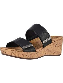 Women's Atlantic Pepper Adjustable Platform Sandal - Ladies Wedge With Concealed Orthotic Arch Support
