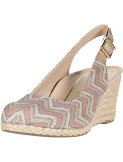 Women's Aruba Coralina Slingback Wedge - Espadrille Wedges With Concealed Orthotic Arch Support