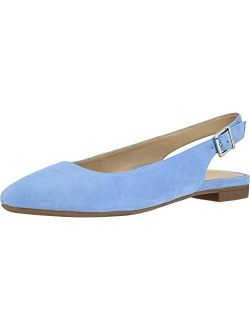 Women's Crystal Jade Flats - Slingback Pointed Flats With Concealed Orthotic Arch Support
