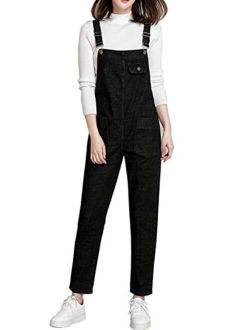 Yimoon Women's Relaxed Fit Baggy Denim Jean Overalls