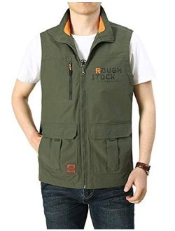 Yimoon Men's Outdoor Work Travel Safari Fishing Pockets Vest