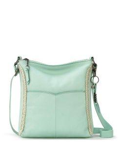 Lucia Leather Hand-Crochet Crossbody Bag