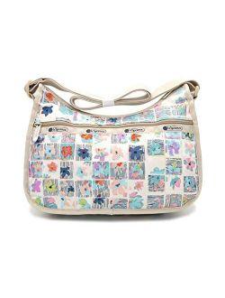 Classic Hobo Crossbody Handbag In Very Merry, Medium
