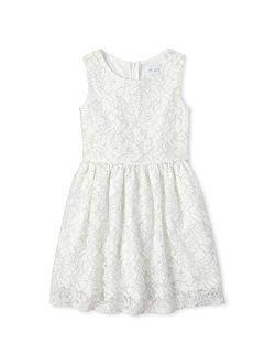 Girls' Glitter Lace Dress