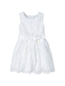 Girls' Lace Fit And Flare Dress