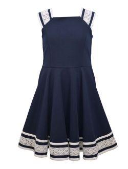 Little Girls Textured Knit Skater Dress