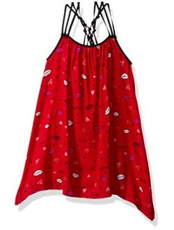Girls' Little Criss Cross Strap Hi-lo Dress