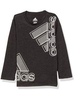 Boys' Stay Dry Moisture-wicking Aeroready Long Sleeve T-shirt
