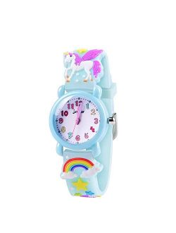 VAPCUFF Girls Watch - 3D Cartoon Waterproof Toddler Watch, Gifts for Girls Age 2-8 Toys for 3 4 5 6 7 Year Old Girls - Kids Gifts