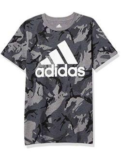Boys' Short Sleeve Cotton Jersey Logo T-shirt Tee