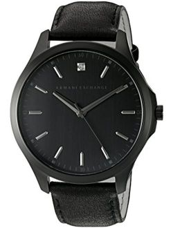 Men's Ax2171 Black Leather Watch