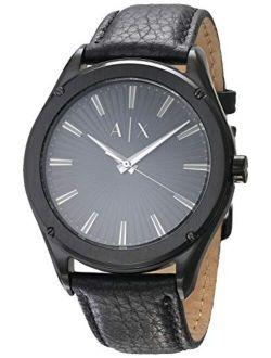 Men's Three-hand Black-tone Stainless Steel Watch Ax2805