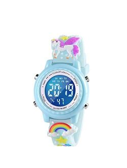 VAPCUFF 3D Cartoon Waterproof Kids Watches with Alarm - Best Toys Gifts for Girls Age 3-10