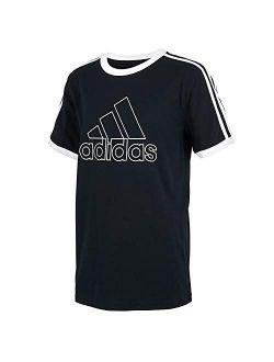 Black Cotton Short Sleeves T Shirt