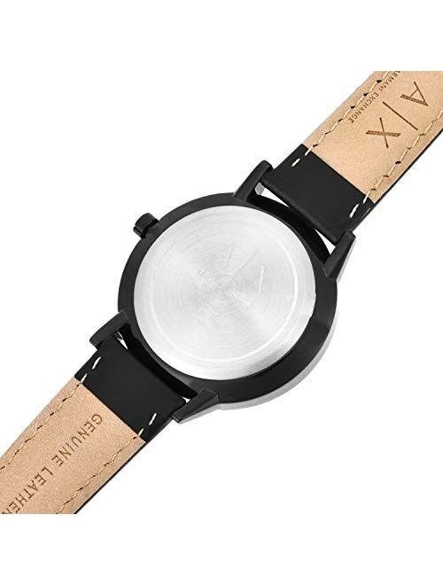 Armani Exchange Men's Cayde Black Leather Strap Watch 42mm AX2719