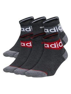 Boys Kids-boy's/girl's Blocked Linear Quarter Socks (6-pair)