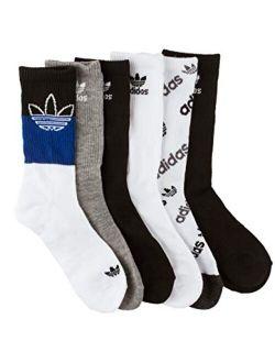 6 Pack Originals Multi Boys Crew Socks