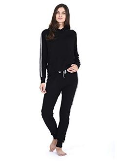 State Fusio Cashmere Wool Matching Hoodie Sweater/Jogger Pants Knitted Loungewear Set for Women ◆Add Both to Cart for Set◆