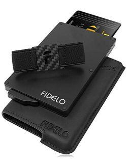 FIDELO Minimalist Card Hybrid RFID Wallets for Men Slim Wallet with Tracker