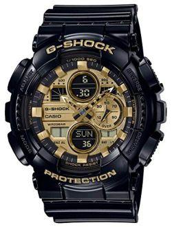Casio G-shock Analog-digital Gold Dial Black Resin Strap Watch Ga140gb-1a1