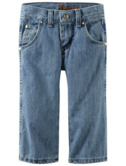 Boys' Retro Relaxed Fit Boot Cut Jeans, Ocean Water, 2t Slim