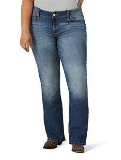 Women's Retro Mae Plus Size Mid Rise Boot Cut Jean