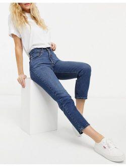 501 Crop Jeans In Dark Wash