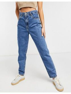 High Loose Tapered Jean In Midwash Blue
