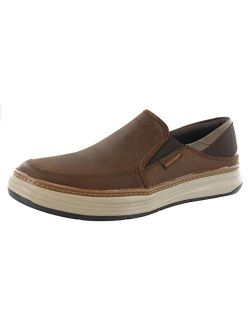Mens Moreno-relton Slip On Casual Comfort Loafer Shoes Chocolate