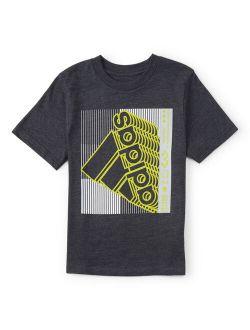 Black Echo Logo Tee - Boys