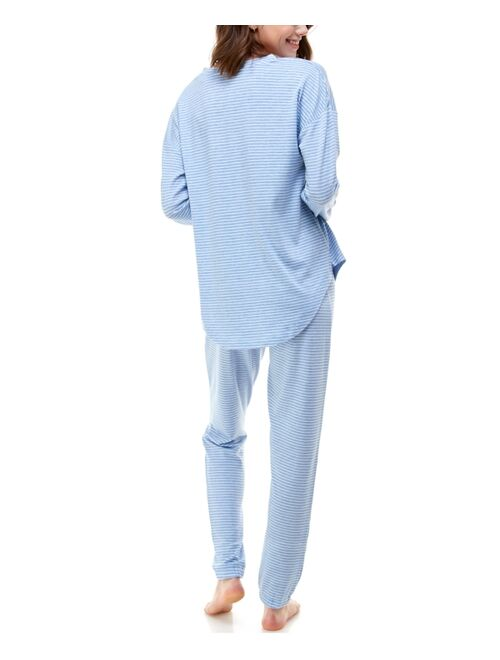 Butter Printed Henley & Pants knitted lounge set